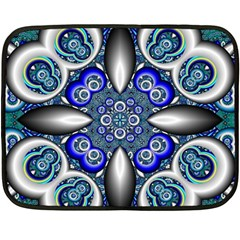 Fractal Cathedral Pattern Mosaic Double Sided Fleece Blanket (mini)