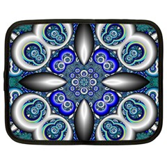 Fractal Cathedral Pattern Mosaic Netbook Case (xxl)  by BangZart