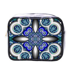 Fractal Cathedral Pattern Mosaic Mini Toiletries Bags by BangZart
