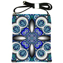 Fractal Cathedral Pattern Mosaic Shoulder Sling Bags by BangZart