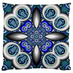Fractal Cathedral Pattern Mosaic Large Cushion Case (two Sides) by BangZart