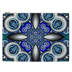 Fractal Cathedral Pattern Mosaic Cosmetic Bag (xxl)  by BangZart