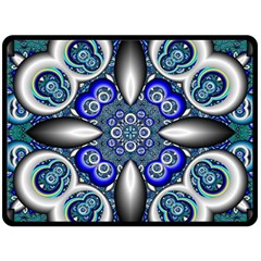 Fractal Cathedral Pattern Mosaic Double Sided Fleece Blanket (large)  by BangZart