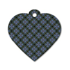 Space Wallpaper Pattern Spaceship Dog Tag Heart (two Sides) by BangZart
