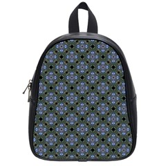 Space Wallpaper Pattern Spaceship School Bags (small)  by BangZart