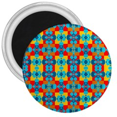 Pop Art Abstract Design Pattern 3  Magnets