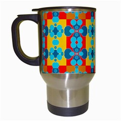 Pop Art Abstract Design Pattern Travel Mugs (white)