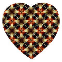 Kaleidoscope Image Background Jigsaw Puzzle (heart) by BangZart