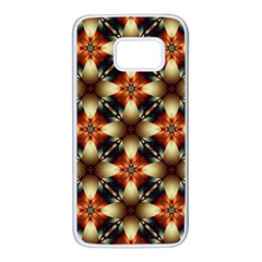 Kaleidoscope Image Background Samsung Galaxy S7 White Seamless Case by BangZart