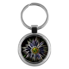 Flower Structure Photo Montage Key Chains (round)  by BangZart