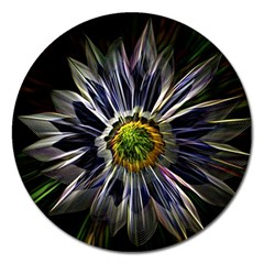 Flower Structure Photo Montage Magnet 5  (round) by BangZart