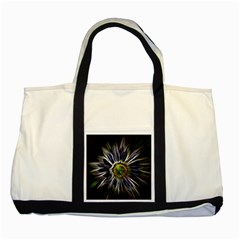 Flower Structure Photo Montage Two Tone Tote Bag by BangZart