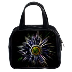 Flower Structure Photo Montage Classic Handbags (2 Sides) by BangZart