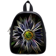 Flower Structure Photo Montage School Bags (small)  by BangZart