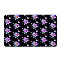 Flowers Pattern Background Lilac Magnet (rectangular)