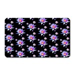 Flowers Pattern Background Lilac Magnet (Rectangular) Front