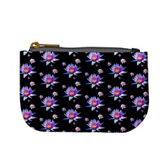 Flowers Pattern Background Lilac Mini Coin Purses by BangZart