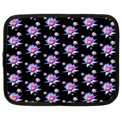 Flowers Pattern Background Lilac Netbook Case (xl)  by BangZart