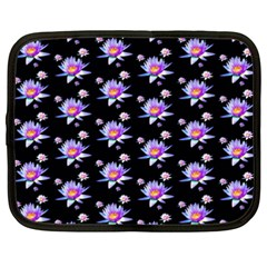 Flowers Pattern Background Lilac Netbook Case (xxl)  by BangZart