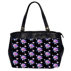 Flowers Pattern Background Lilac Office Handbags (2 Sides)