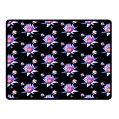 Flowers Pattern Background Lilac Fleece Blanket (small) by BangZart