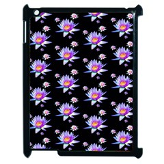 Flowers Pattern Background Lilac Apple Ipad 2 Case (black) by BangZart