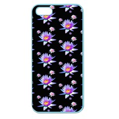 Flowers Pattern Background Lilac Apple Seamless Iphone 5 Case (color)