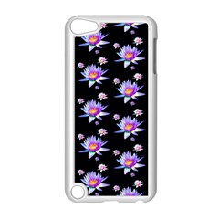 Flowers Pattern Background Lilac Apple Ipod Touch 5 Case (white)