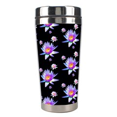 Flowers Pattern Background Lilac Stainless Steel Travel Tumblers by BangZart