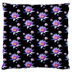 Flowers Pattern Background Lilac Large Flano Cushion Case (two Sides) by BangZart