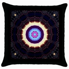 Mandala Art Design Pattern Throw Pillow Case (black) by BangZart