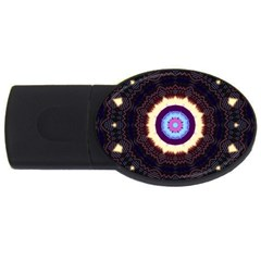 Mandala Art Design Pattern Usb Flash Drive Oval (2 Gb) by BangZart