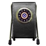 Mandala Art Design Pattern Pen Holder Desk Clocks Front