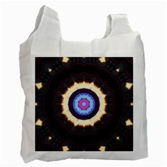 Mandala Art Design Pattern Recycle Bag (two Side)