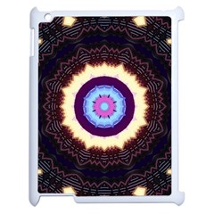 Mandala Art Design Pattern Apple Ipad 2 Case (white) by BangZart