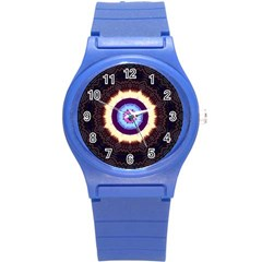 Mandala Art Design Pattern Round Plastic Sport Watch (s)