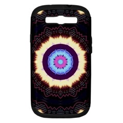 Mandala Art Design Pattern Samsung Galaxy S Iii Hardshell Case (pc+silicone) by BangZart