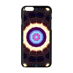 Mandala Art Design Pattern Apple Iphone 6/6s Black Enamel Case by BangZart