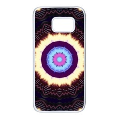 Mandala Art Design Pattern Samsung Galaxy S7 White Seamless Case