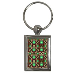 Pattern Background Bright Brown Key Chains (rectangle)  by BangZart