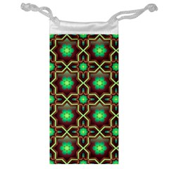 Pattern Background Bright Brown Jewelry Bag