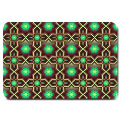 Pattern Background Bright Brown Large Doormat  by BangZart