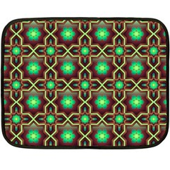 Pattern Background Bright Brown Fleece Blanket (mini) by BangZart