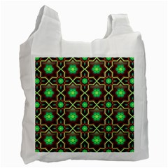 Pattern Background Bright Brown Recycle Bag (two Side)  by BangZart