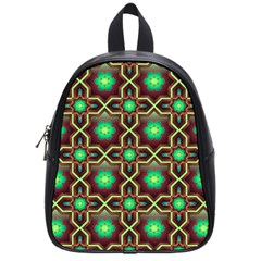 Pattern Background Bright Brown School Bags (small)  by BangZart