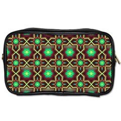 Pattern Background Bright Brown Toiletries Bags by BangZart