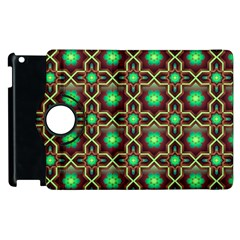 Pattern Background Bright Brown Apple Ipad 2 Flip 360 Case by BangZart