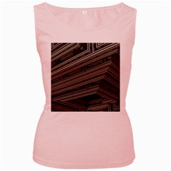 Fractal 3d Construction Industry Women s Pink Tank Top by BangZart