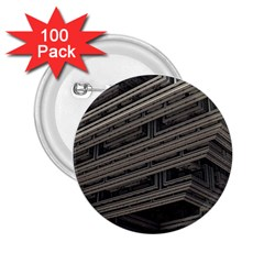 Fractal 3d Construction Industry 2 25  Buttons (100 Pack)