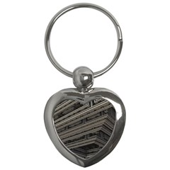 Fractal 3d Construction Industry Key Chains (heart)